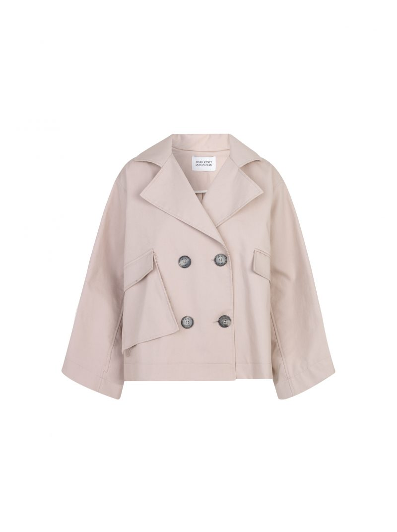 jamina a-shaped jacket mark kenly domino tan