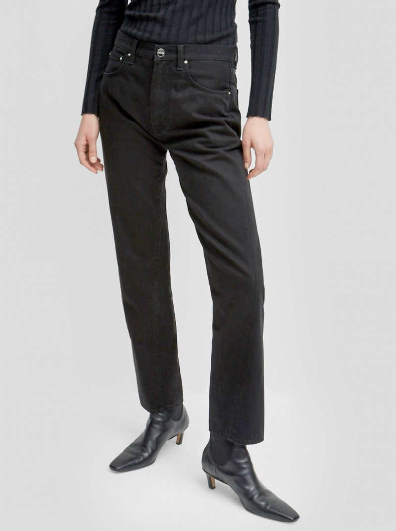 toteme original denim jeans black rinse wash