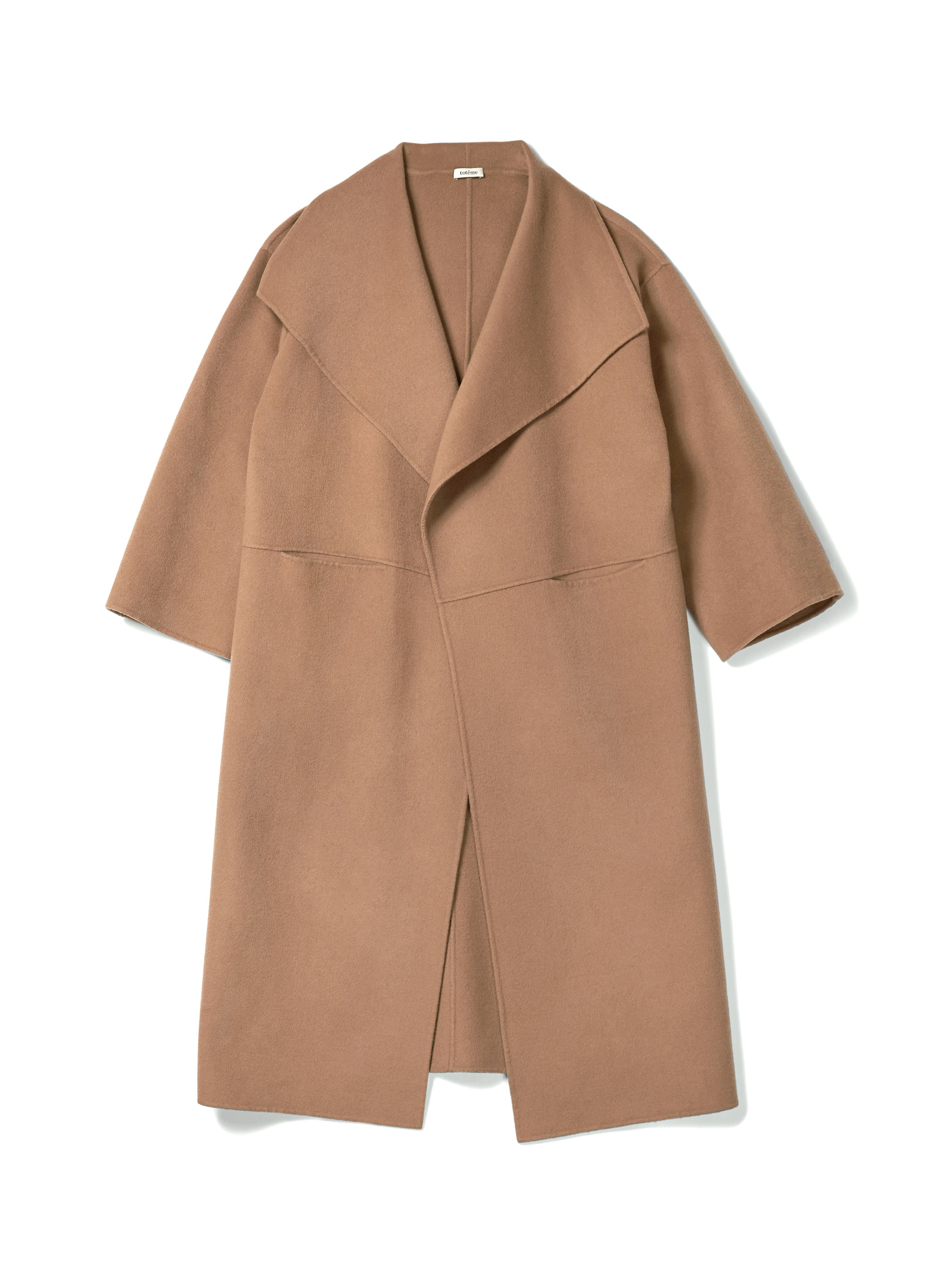toteme annecy coat camel